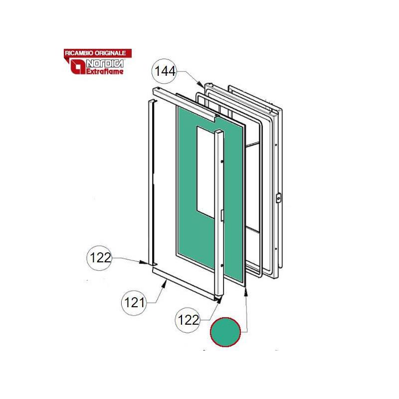 MC COSTA MORENO - Raccordo a soffitto completo di rosone 12 cm