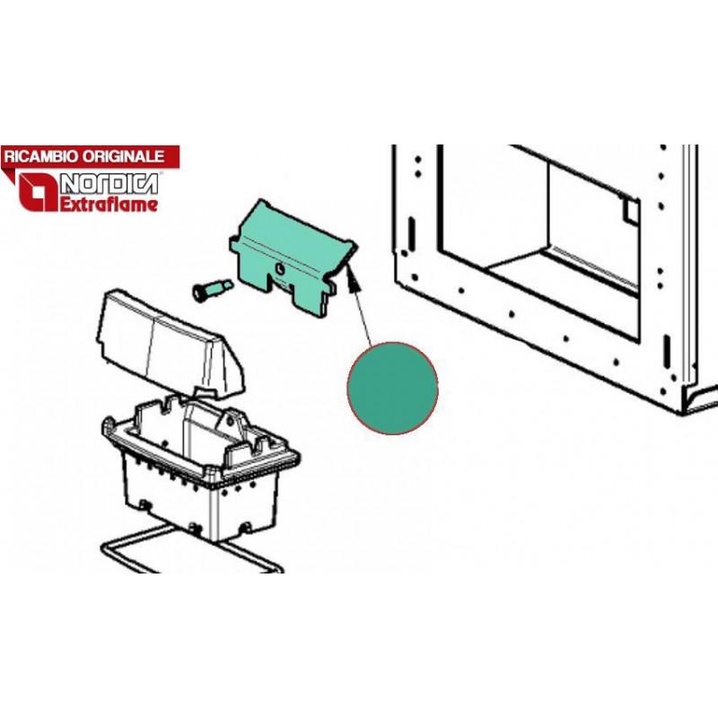 LA NORDICA - Cucina a legna ROMANTICA 4.5 DX NERO