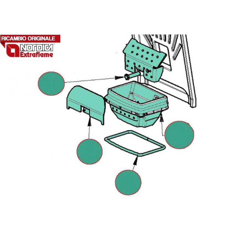 LA NORDICA - Cucina a legna ROSETTA LIBERTY BORDEAUX