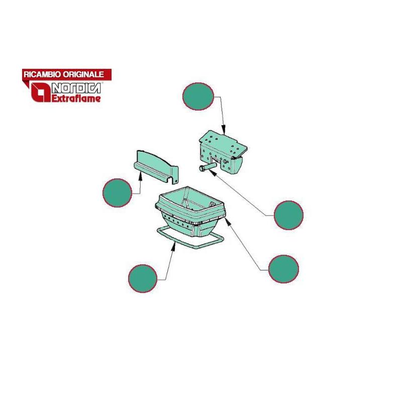 LA NORDICA - Cucina a legna ROSA MAIOLICA BORDEAUX