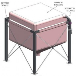 EXTRAFLAME - Silos caricamento pellet 3.2 ton.