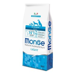 MONGE LIGHT Salmone Riso All Breeds 12 kg