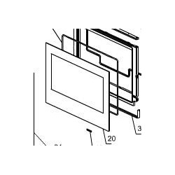 LA NORDICA - 6026002 Vetro ricambio x Crystal 100 4X492,5X963 mm